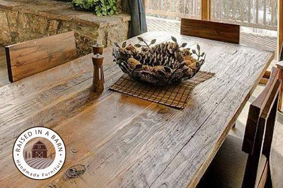 Barn Wood Dining Room Table Raised In A Furniture