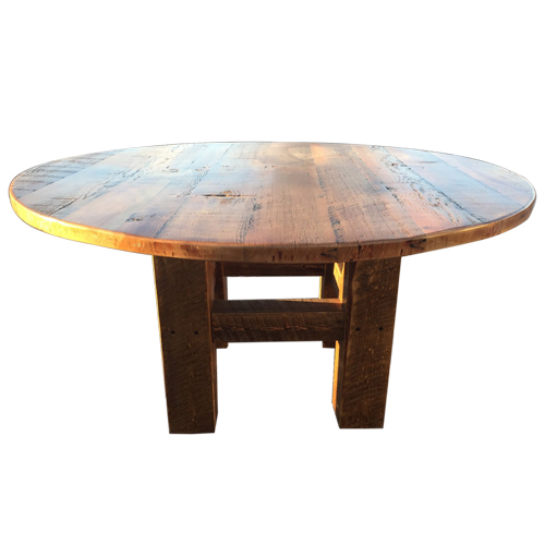 Wood Round Table.Barn Wood Round Table