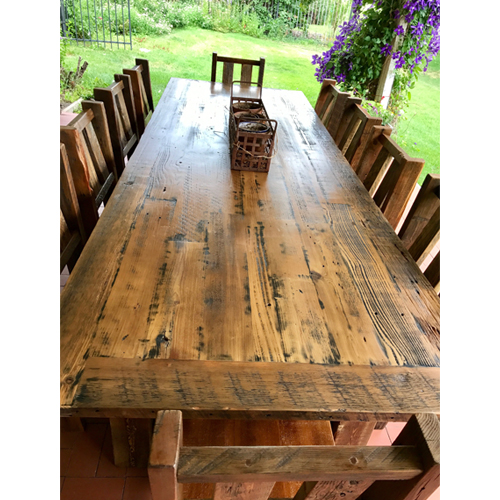 Barn Wood Dining Tables Raised In A