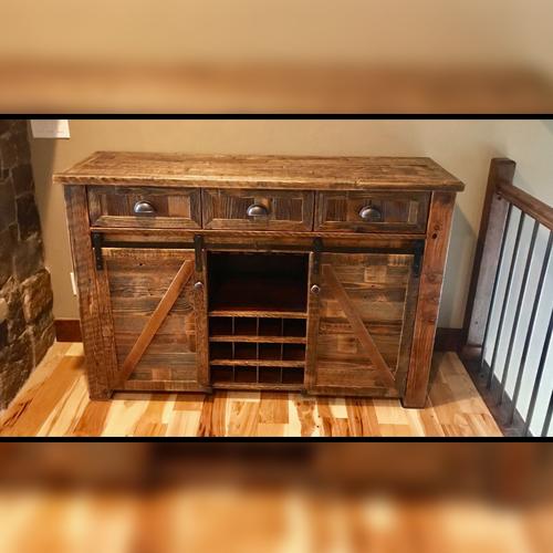 Rustic Liquor Cabinet